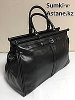 Дорожная сумка-саквояж из экокожи. Высота 30 см, ширина 51 см, глубина 21 см., фото 1