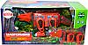 Немного помятая!!! 623 Магнитный констр. 18дет Динозавр Трицератопс красный  43*20см