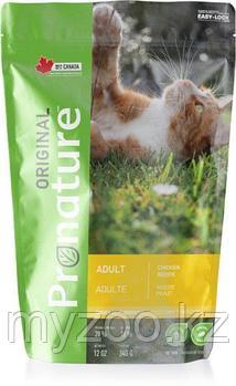 Pronature Original Adult  Пронатюр Оригинал  корм для кошек на курице 340гр