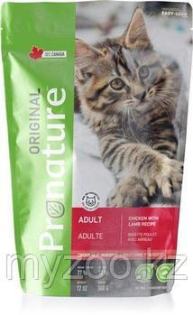 Pronature Original Adult  Пронатюр Оригинал  корм для кошек на курице с ягненком 340 гр