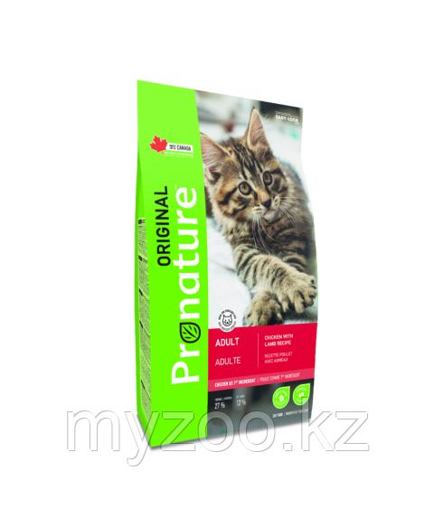 Pronature Original Adult  Пронатюр Оригинал  корм для кошек на курице с ягненком 5 кг