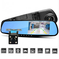 Зеркало Видеорегистратор авто  2 камеры (+ заднего вида) FullHD Android DVR