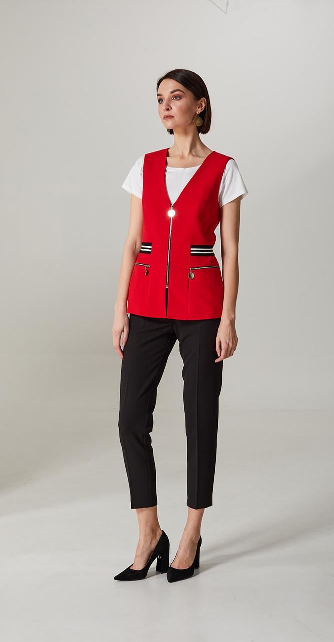 Костюм Denissa Fashion-1281, красный-черный, 42