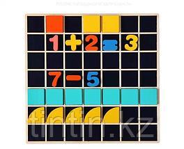 Деревянный набор 3 в 1: мозаика, маркерная доска, счетные палочки и цифры, фото 3