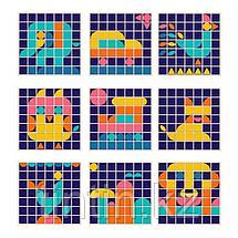 Деревянный набор 3 в 1: мозаика, маркерная доска, счетные палочки и цифры, фото 2