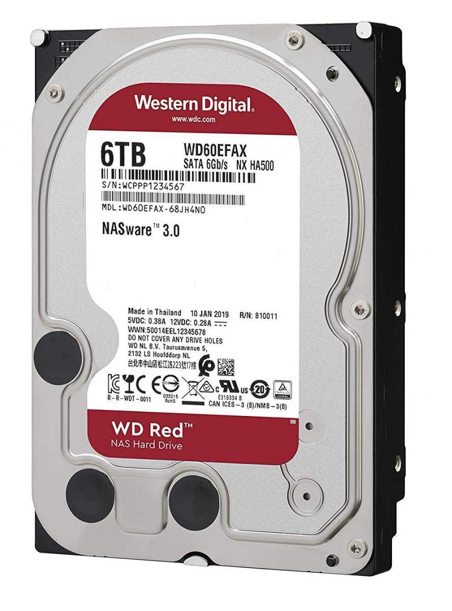 """Western Digital WD60EFAX жесткий диск Red HDD 6Tb 3.5"""" SATA SATA 6Gb/s 256Mb 5400rpm"""