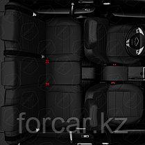 Чехлы модельные HYUNDAI ELANTRA 2016+ черный, фото 3