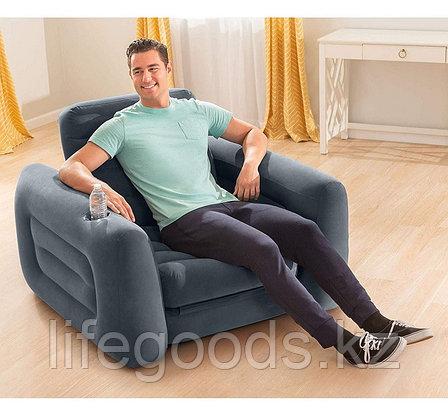 Надувное кресло-трансформер Pull-Out Chair Intex 66551, фото 2