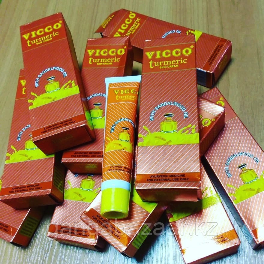 Крем Vicco из куркумы и масла сандалового дерева, осветление, питание кожи, 30 гр