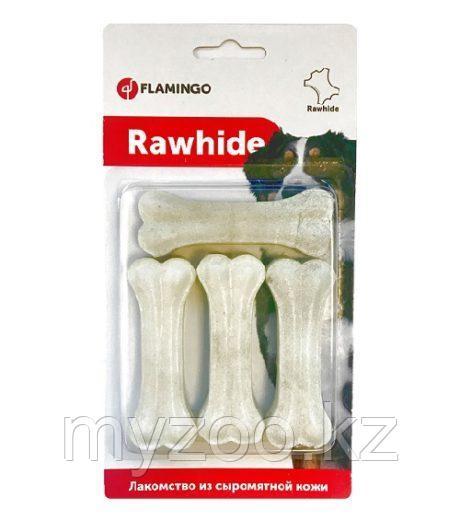 Karlie-Flamingo белые кости,прессованные жилы из кожи говяжьей 4 шт в упаковке