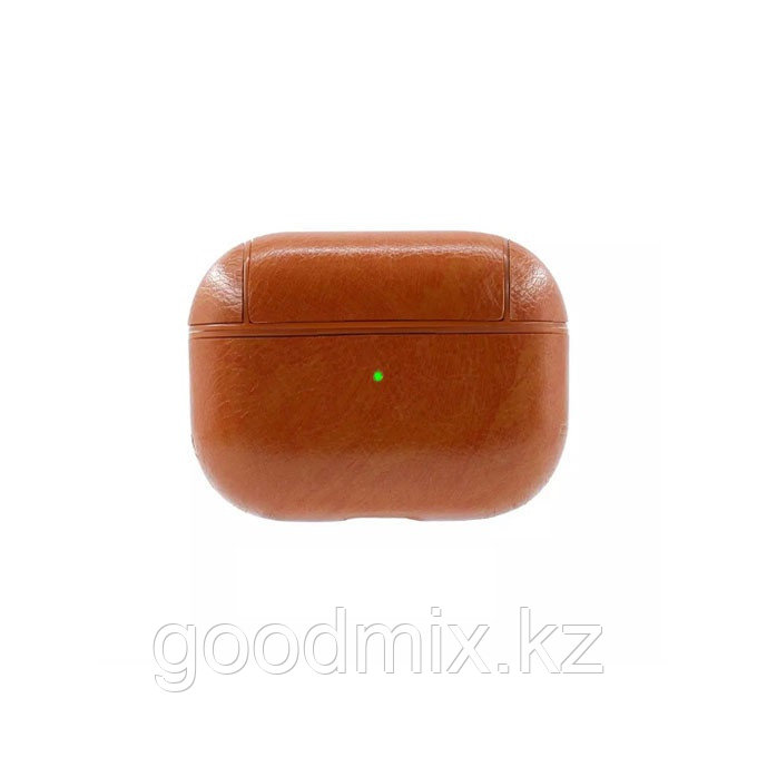 Чехол для Apple AirPods Pro (кожзаменитель коричневый)