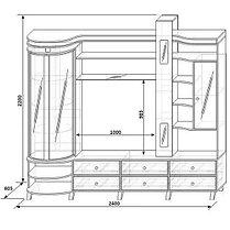Шкаф комбинированный «С витриной Л», фото 2