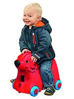 Детский чемодан Big Собачка на колесиках красный