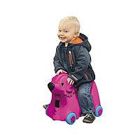 Детский чемодан Big Собачка на колесиках розовый