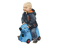 Детский чемодан Big Собачка на колесиках синий