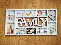 """Фоторамка """"FAMILY"""", на 10 фото"""