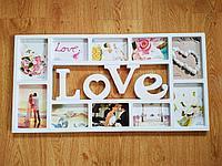 """Фоторамка """"Love"""", на 10 фото"""