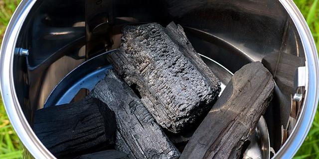 Одной закладки угля хватит для приготовления комплексного обеда!