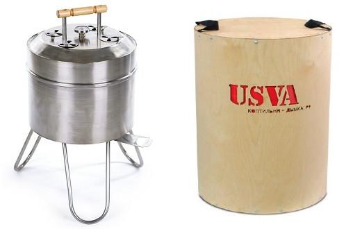 """Гриль-барбекю """"USVA"""" поставляется в фирменной многоразовой упаковке"""