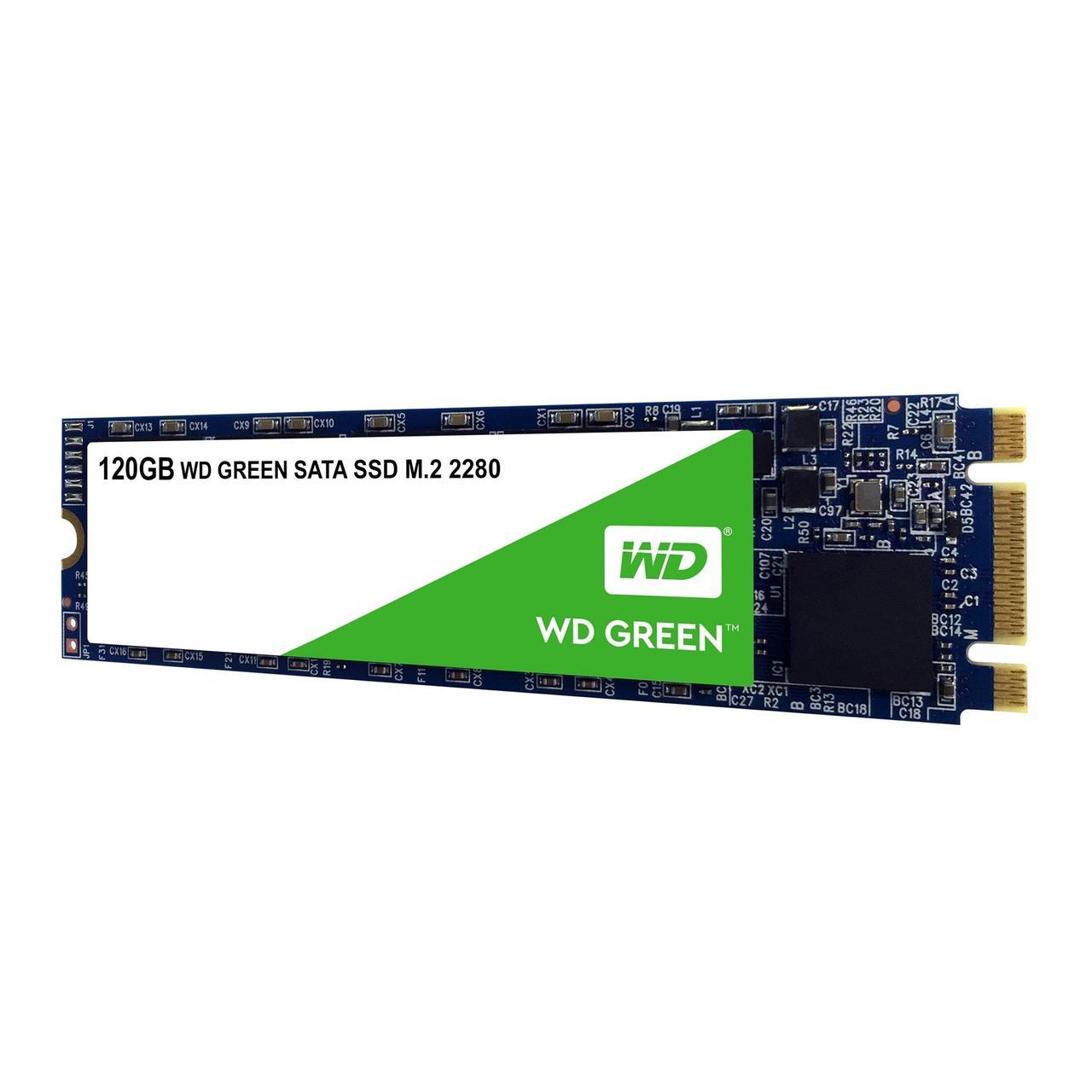 Western Digital WDS120G2G0B Твердотельный накопитель 120GB SSD M.2 2280 R545Mb/s SATA