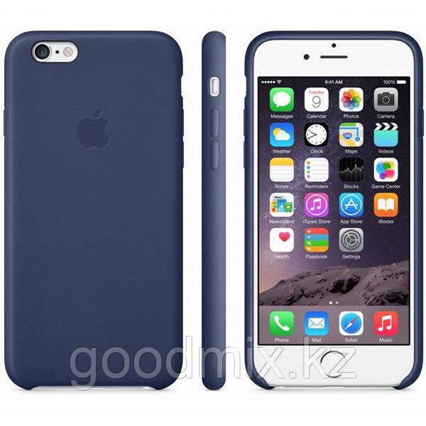 Силиконовый чехол для iPhone 6/6s (темно-синий)