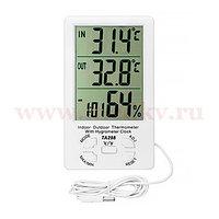 Термогигрометр Kromatech с часами и датчиком