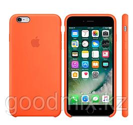 Силиконовый чехол для iPhone 6 Plus/6s Plus (оранжевый)
