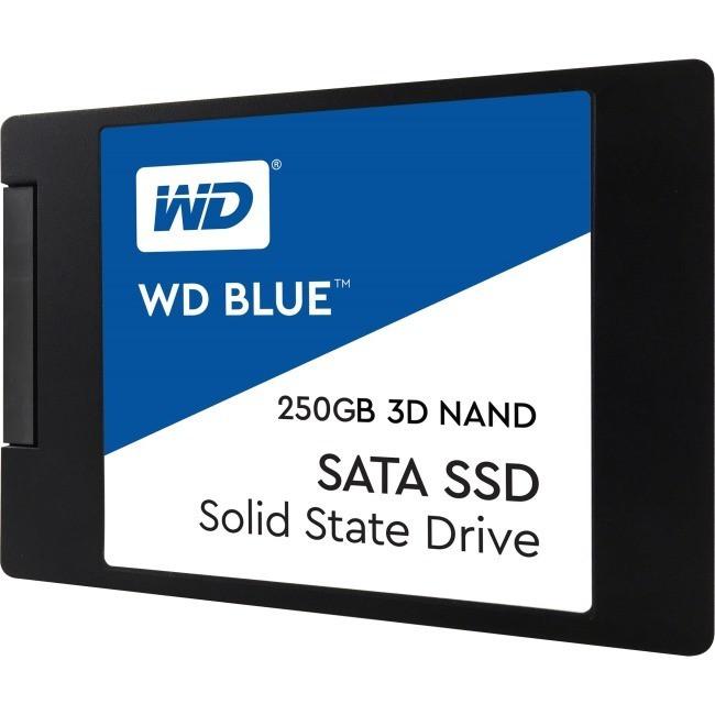 "Western Digital WDS250G2B0A Твердотельный накопитель 250GB SSD Серия BLUE 3D NAND 2.5"" SATA3 R550Mb/s"