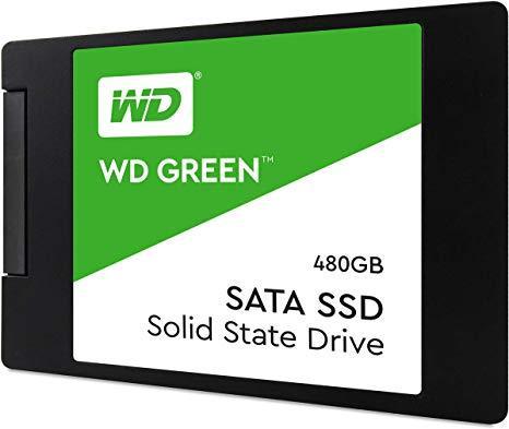 "Western Digital WDS480G2G0A Твердотельный накопитель 480GB SSD Серия GREEN 2.5"" SATA3 R545Mb/s 7mm"