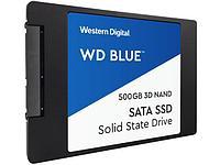 Western Digital WDS500G2B0A Твердотельный накопитель 500GB SSD ССерия BLUE 3D 2.5 7мм SATA 6Gb/s