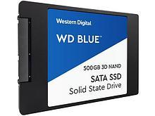 "Western Digital WDS500G2B0A Твердотельный накопитель 500GB SSD ССерия BLUE 3D 2.5"" 7мм SATA 6Gb/s"