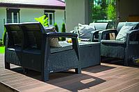 Комплект мебели Корфу со столиком-сундуком (Corfu box set) коричневый