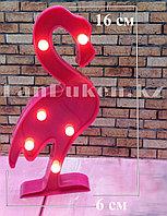 Светильник Фламинго ночник розовый фламинго 16 x 6 см 6 ламп (на батарейках)