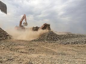 Строительство земельного полотна. Балхашская ТЭС. BI Group Construction 1
