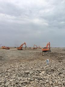 Строительство земельного полотна. Балхашская ТЭС. BI Group Construction 4