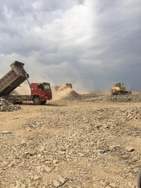 Строительство земельного полотна. Балхашская ТЭС. BI Group Construction -1