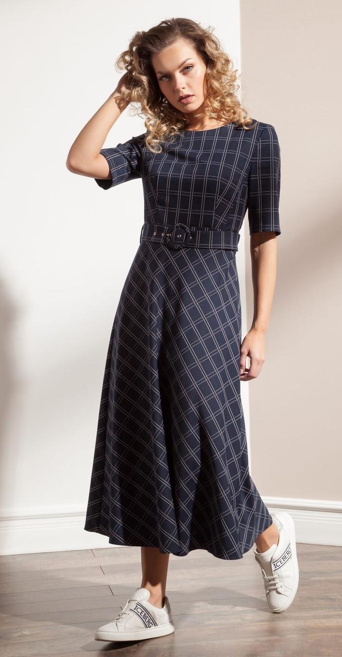Платье Nova Line-5990, синяя клетка, 44
