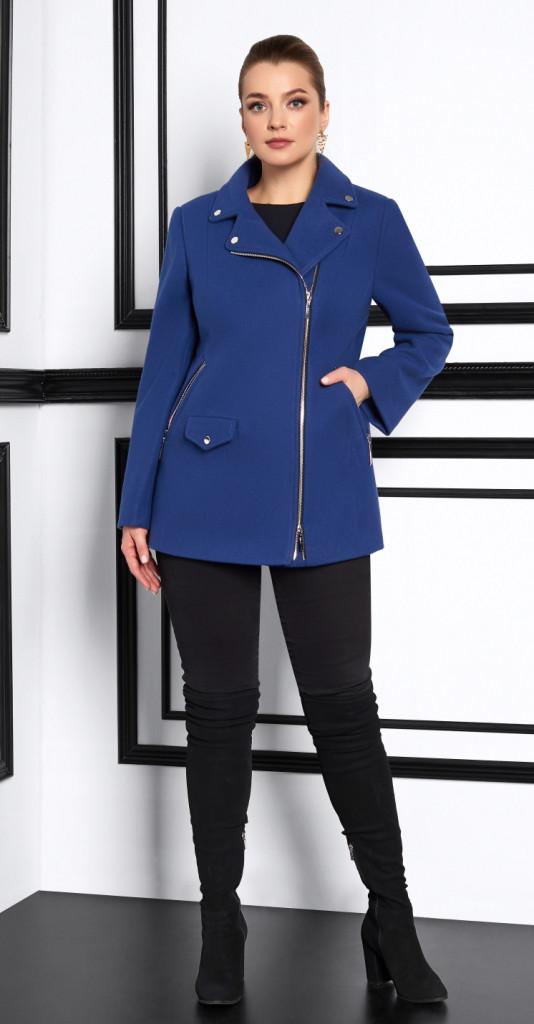 Пальто Lissana-3912, лазурный, 48