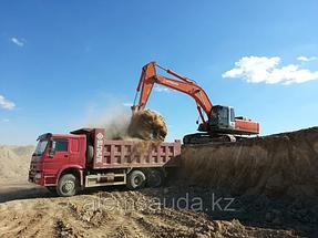 Строительство земельного полотна железной дороги Жезказган-Бейнеу 1