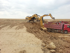 Строительство земельного полотна железной дороги Жезказган-Бейнеу 3