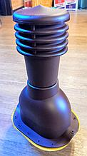 Вентиляционный выход на металлочерепицу 125мм монтерей, адаманте (коричневый, черный, графит)
