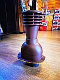 Вентиляционный выход на металлочерепицу 125мм монтерей, адаманте (Польша) коричневый, черный, графит, фото 2