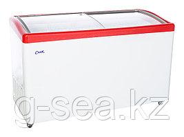 Морозильный ларь Снеж МЛГ-500 красный глянец