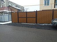Забор металлический из металлосайдинга