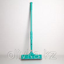 Окномойка с телескопической металлической ручкой Доляна, 28×77(116) см, поворотная головка, поролон, цвет