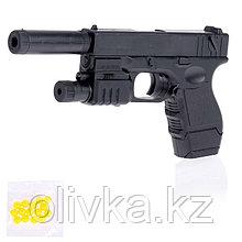 Пистолет пневматический «Форт», с фонариком, лазером и глушителем