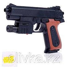 Пистолет пневматический «Классик», с фонариком и лазером