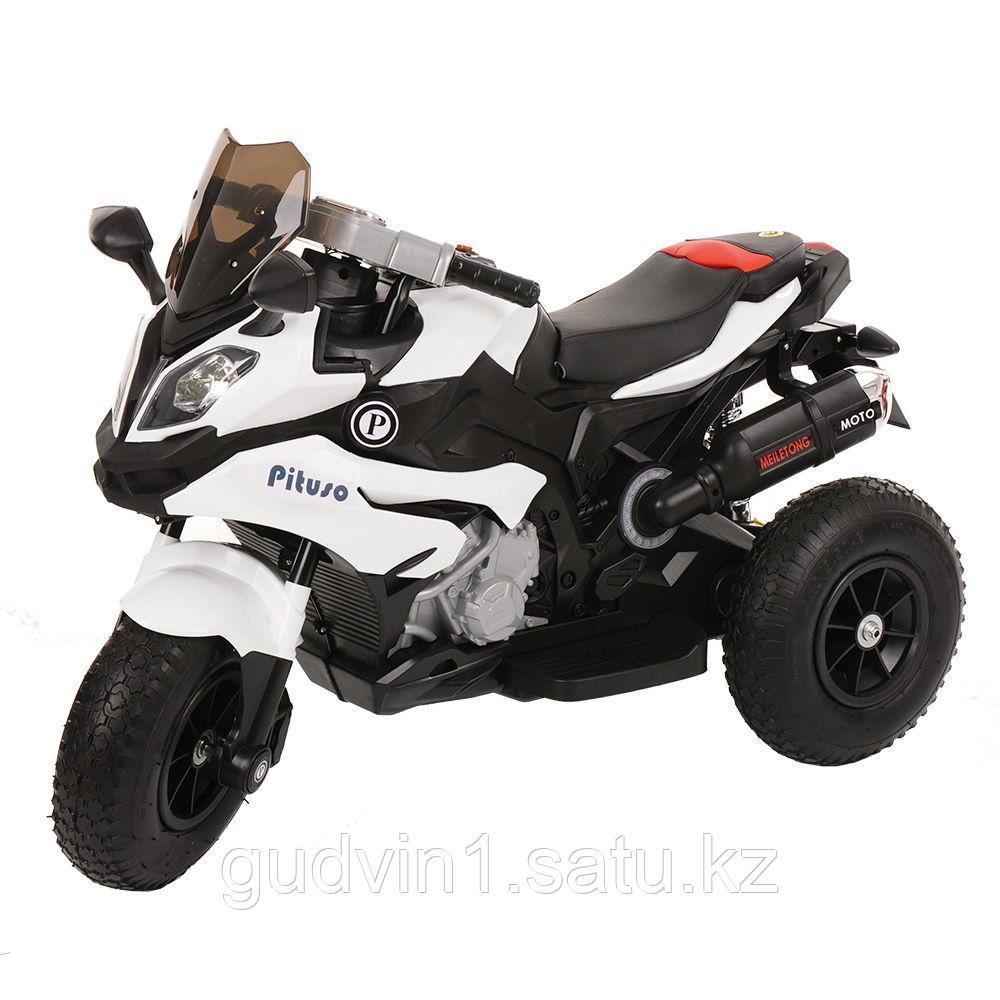 PITUSO: Электромотоцикл HLX2018, 6V/7Ah White/Белый (музыка,свет) HLX2018
