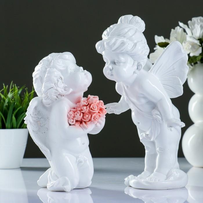 """Фигура """"Ангелы целуются"""" набор из 2шт, 28см"""