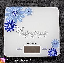 """Весы электронные, кухонные """"Ravenda RNV-2169"""". Материал: Стекло/Пластик. Цвет: Белый. Предел нагрузки: 5кг."""
